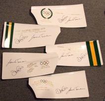 Assorted signed AUS blades