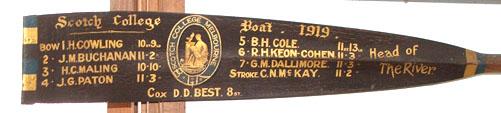 Original Scotch College oar